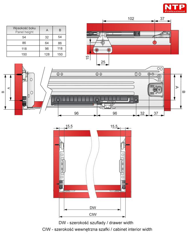 spowalniacz do metalboxu 350-550 rysunki techniczne