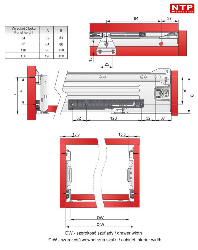 spowalniacz do metalboxu 250-300 rysunki techniczne