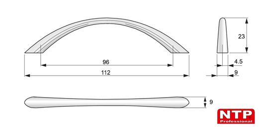 uchwyt UZ02 rysunek techniczny