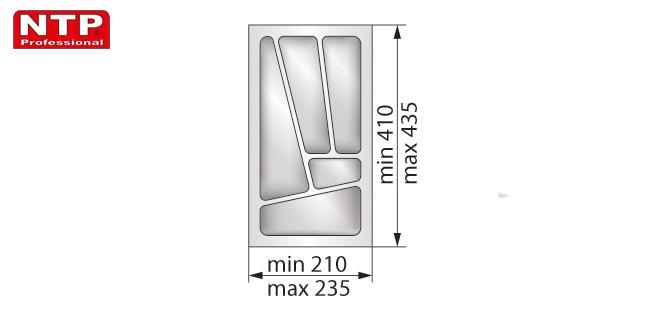 Wkład lux 30 do szuflady rysunek techniczny