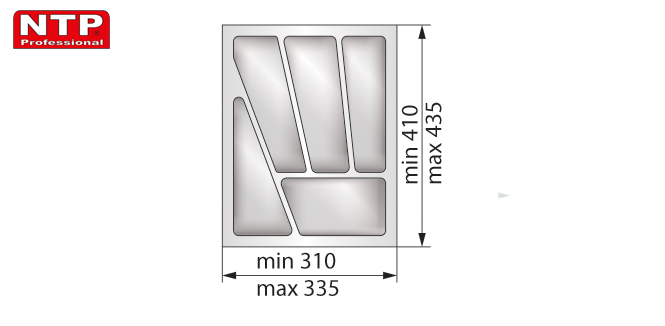Wkład lux 40 do szuflady rysunek techniczny