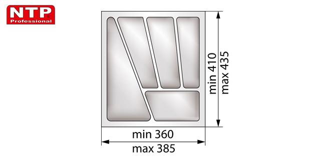Wkład classic 45 do szuflady rysunek techniczny