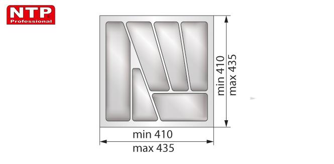 Wkład lux 50 do szuflady rysunek techniczny