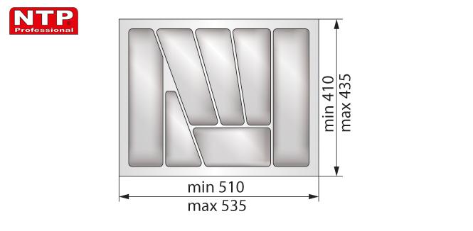 Wkład lux 60 do szuflady rysunek techniczny