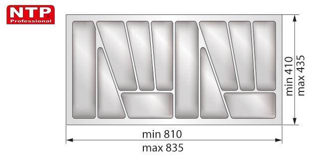 Wkład lux 90 do szuflady rysunek techniczny