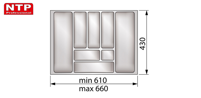 Wkład classic 70 do szuflady rysunek techniczny