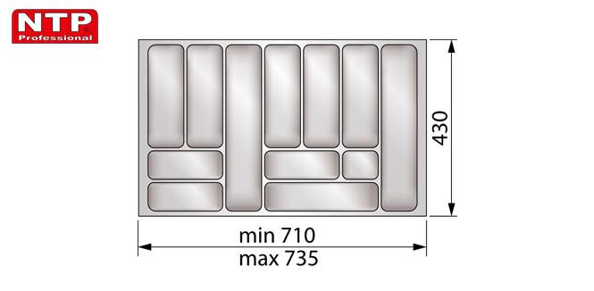Wkład classic 80 do szuflady rysunek techniczny